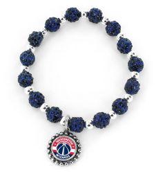 WIZARDS (NAVY BLUE) PEBBLE BEAD STRETCH BRACELET