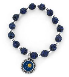 PACERS (NAVY BLUE) PEBBLE BEAD STRETCH BRACELET