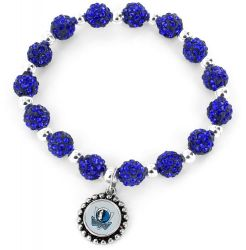 MAVERICKS (BLUE) PEBBLE BEAD STRETCH BRACELET