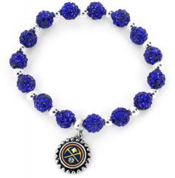 NUGGETS (BLUE )PEBBLE BEAD STRETCH BRACELET