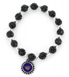 SUNS (BLACK) PEBBLE BEAD STRETCH BRACELET