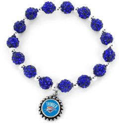 THUNDER (BLUE) PEBBLE BEAD STRETCH BRACELET