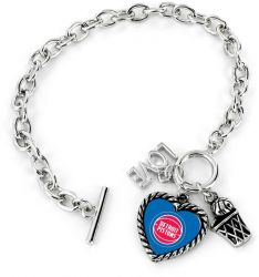 PISTONS LOVE BASKETBALL BRACELET
