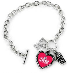 CLIPPERS LOVE BASKETBALL BRACELET