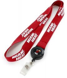 HEAT BADGE WITH (RED) LANYARD