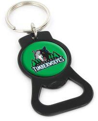 TIMBERWOLVES (BLACK) BOTTLE OPENER KEYCHAIN