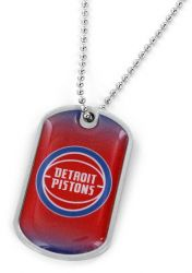 PISTONS DOMED DOG TAG