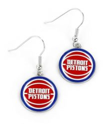 PISTONS LOGO DANGLER EARRINGS