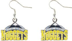 NUGGETS LOGO DANGLER EARRINGS