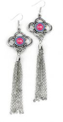 PISTONS CHARMED TASSEL EARRINGS