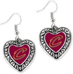 CAVALIERS HEART EARRINGS