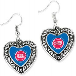 PISTONS HEART EARRINGS