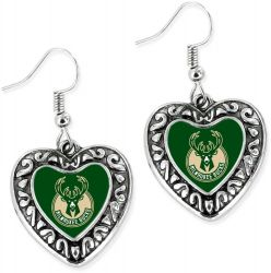 BUCKS HEART EARRINGS