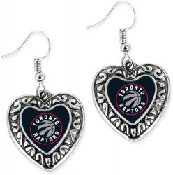 RAPTORS HEART EARRINGS