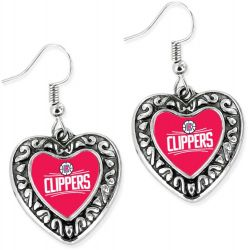 CLIPPERS HEART EARRINGS