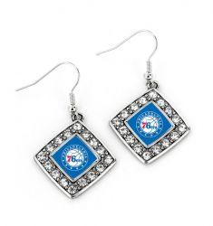 76ERS CRYSTAL DIAMOND EARRINGS