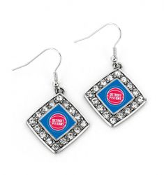 PISTONS CRYSTAL DIAMOND EARRINGS