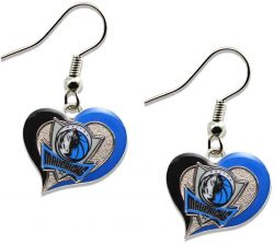 MAVERICKS SWIRL HEART EARRINGS