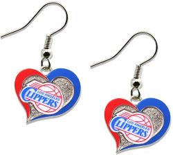 CLIPPERS SWIRL HEART EARRINGS