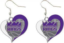KINGS SWIRL HEART EARRINGS