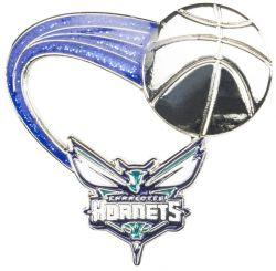 HORNETS (BLUE) GLITTER TRAIL PIN