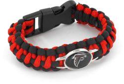 FALCONS (BLACK/RED) PARACORD BRACELET
