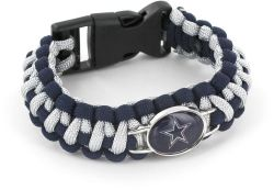 COWBOYS (NAVY BLUE/ SILVER) PARACORD BRACELET