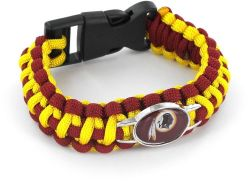 REDSKINS (DARK RED/ YELLOW) PARACORD BRACELET