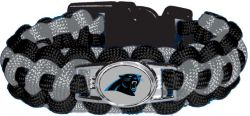 PANTHERS (BLACK/SILVER) PARACORD BRACELET