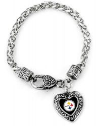 STEELERS HEART BRACELET