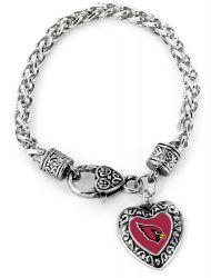 CARDINALS HEART BRACELET