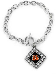 BENGALS CRYSTAL DIAMOND BRACELET