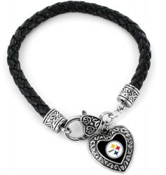 STEELERS (BLACK) BRAIDED BRACELET