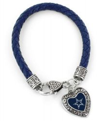 COWBOYS (NAVY BLUE) BRAIDED BRACELET