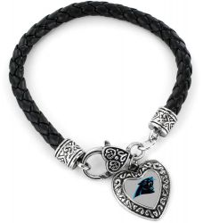 PANTHERS (BLACK) BRAIDED BRACELET