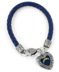 CHARGERS (NAVY BLUE) BRAIDED BRACELET