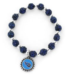 TITANS (NAVY BLUE) PEBBLE BEAD STRETCH BRACELET