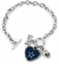 COWBOYS LOVE FOOTBALL BRACELET