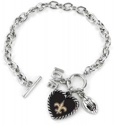 SAINTS LOVE FOOTBALL BRACELET