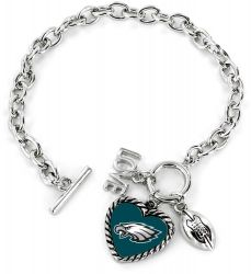 EAGLES LOVE FOOTBALL BRACELET