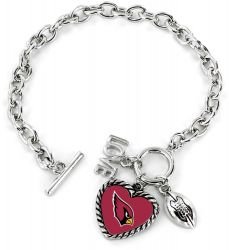 CARDINALS LOVE FOOTBALL BRACELET