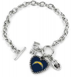 CHARGERS LOVE FOOTBALL BRACELET