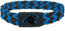 PANTHERS (BLACK/PROCESS BLUE) STRETCH BRACELET (OC)
