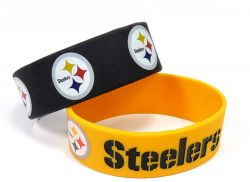 STEELERS WIDE BRACELETS (2-PACK)