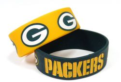 PACKERS WIDE BRACELETS (2-PACK)