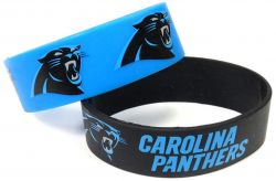 PANTHERS WIDE BRACELETS (2-PACK)