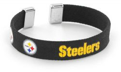 "STEELERS 1/2"" RIBBON BRACELET"