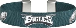 "EAGLES 1/2"" RIBBON BRACELET"