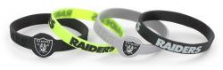 RAIDERS SILICONE BRACELET (4-PACK)