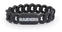 RAIDERS SILICONE LINK BRACELET